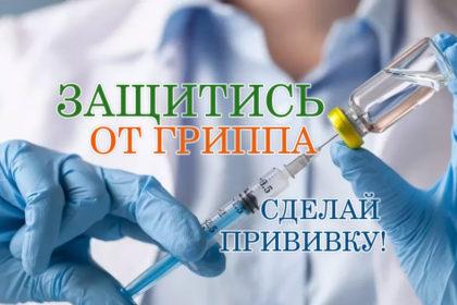 Началась всероссийская прививочная кампания против гриппа