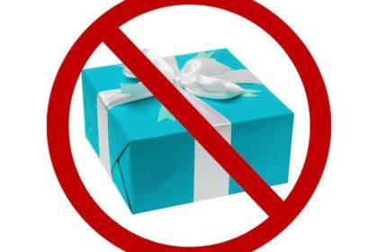 О запрете дарить подарки