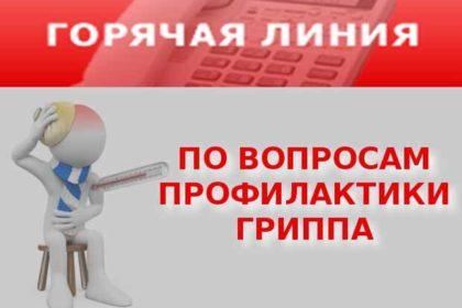 Горячая телефонная линия по вопросам профилактики гриппа и ОРВИ