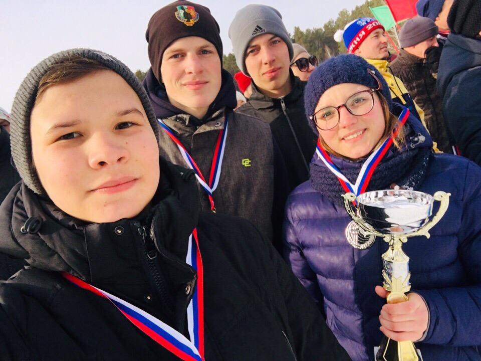 Лыжная эстафета в Двуреченске